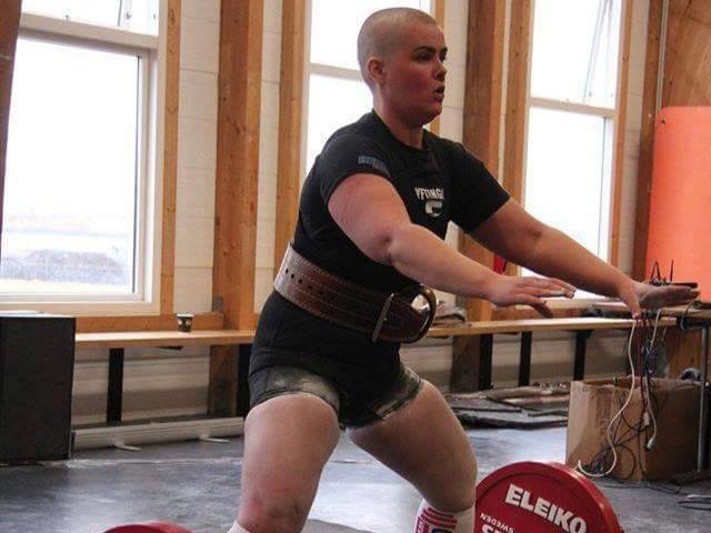 Women's weighlifting champion Hulda B. Waage.