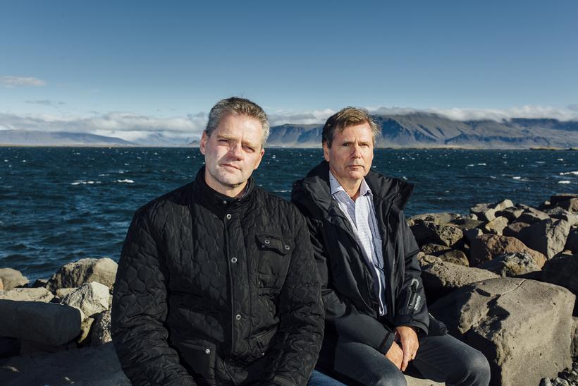 Hólmgeir Jónsson (t.h.), framkvæmdastjóri Sjómannasambands Íslands, ásamt Valmundi Valmundssyni, formanni ...