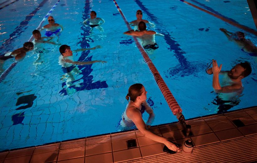 A visit to a swimming pool is popular in Iceland, ...