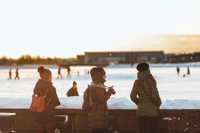There are many tourists visiting Reykjavik over the holidays.