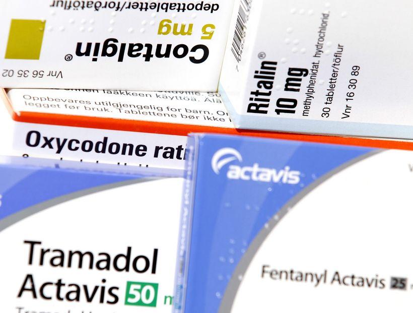 Undir flokk ópíóíðalyfja falla m.a. contalgin, oxycodone og fentanýl sem ...