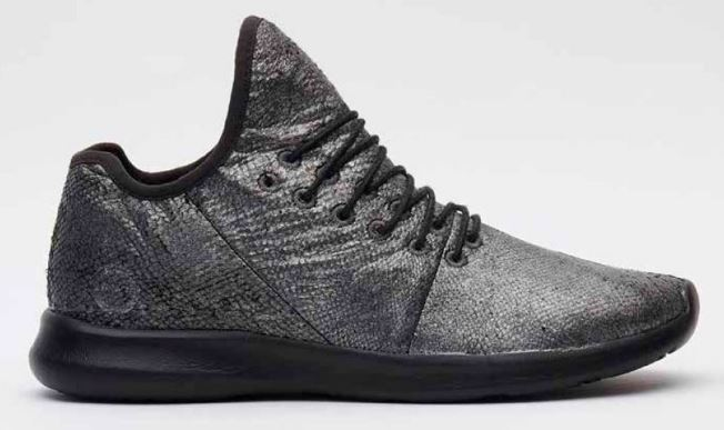Danish design company Woden use fish leather for sneakers.
