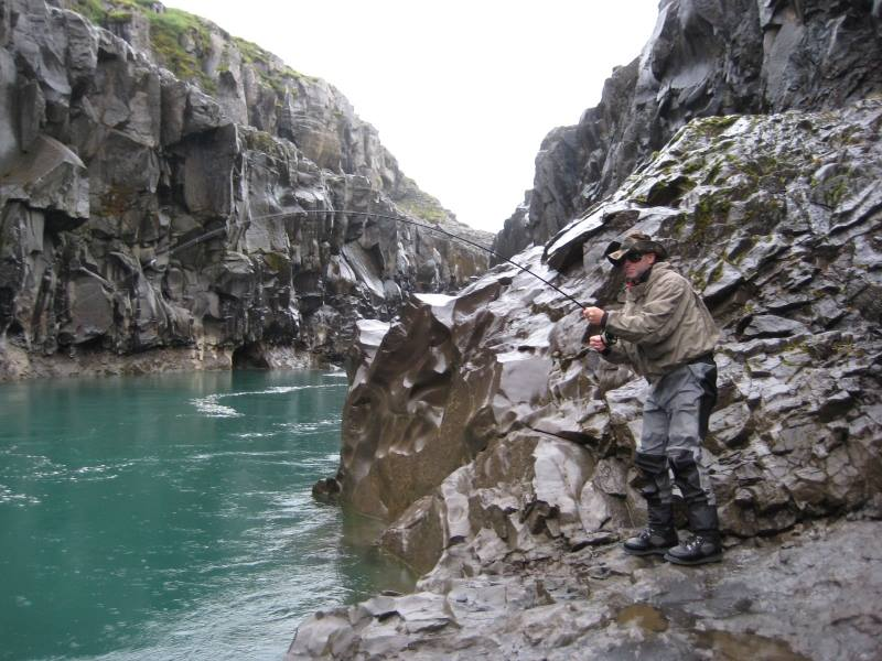 Some areas in Jökla are harder to fish at than ...