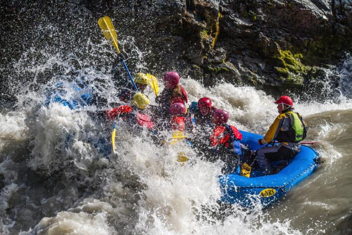 Eystri Jökulsá is filled with rapids.