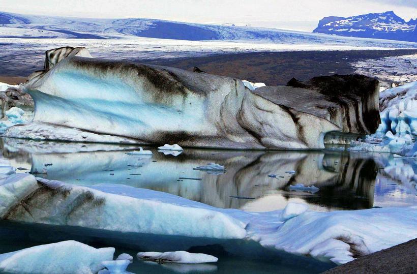 Jörðin Fell liggur að Jökulsárlóni.