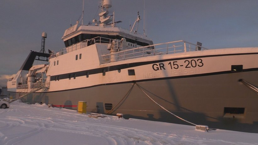 The Polar Nanoq was docked at Hafnarfjörður harbour and left ...