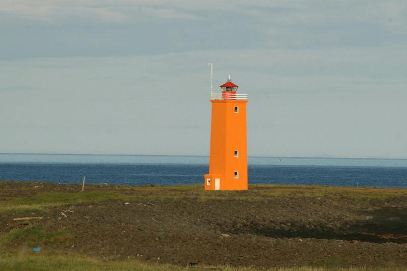 Selvogsviti lighthouse, near the beach where Birna's body was found.
