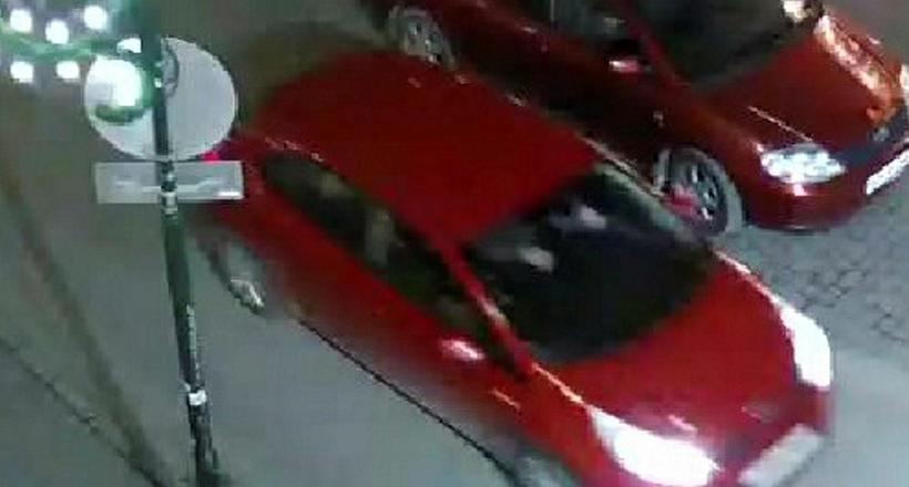 The red Kia Rio rental car spotted on surveillance camera ...