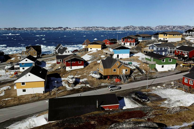 The people of Nuuk, the capital of Greenland gathered to ...