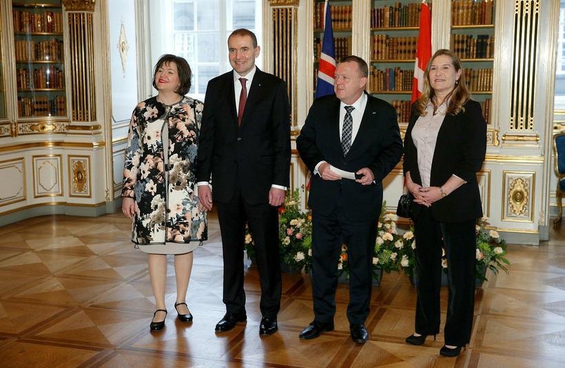 Guðni Th. Jóhannesson og Eliza Reid hittu Lars Løkke Rasmussen ...