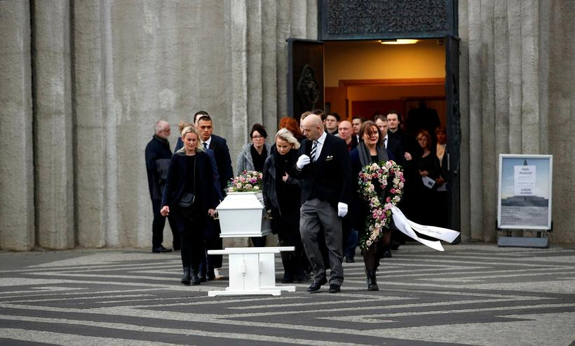 Birna's funeral took place last Friday at Hallgrimskirkja church in ...