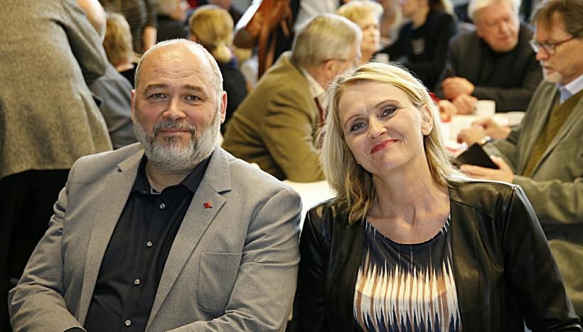 Logi Már Einarsson, formaður Samfylkingarinnar, og Heiða Björg Hilmisdóttir, varaformaður ...