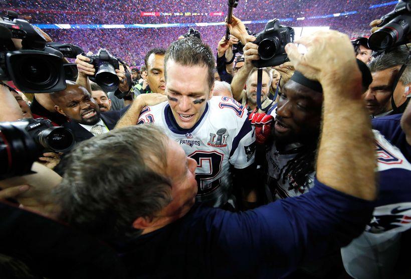 Leikstjórnandinn frábæri, Tom Brady, og Bill Belichick, sem hefur verið ...