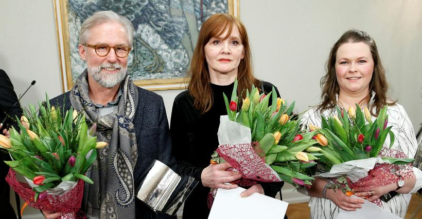 The winners of the Iceland Prize for Literature.