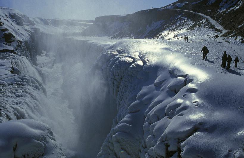 Gullfoss is one of Iceland's most famous waterfall, no less ...