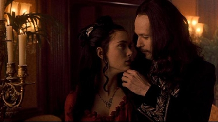 Winona Ryder as Mina and Gary Oldman as Count Dracula ...