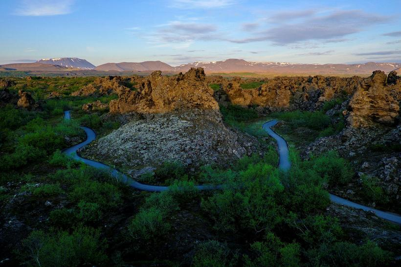 Dimmuborgir is the home of some of the Icelandic Yule ...