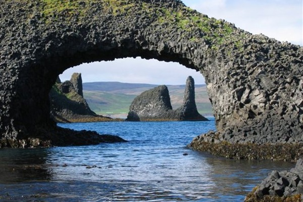 Rauðanes is known for stunning rock formations.