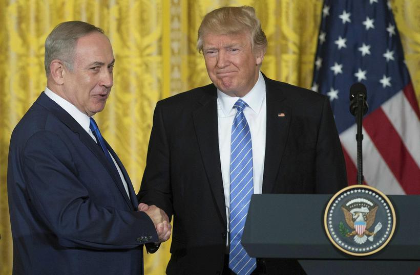 Donald Trump ásamt Benjamin Netanyahu.
