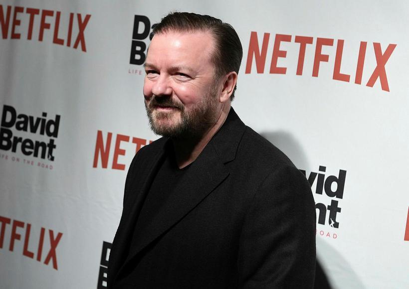 Ricky Gervais á góðri stundu.