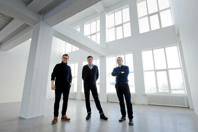 Börkur Arnarson, direcor of the i8 gallery and arhitects Ásmundur ...