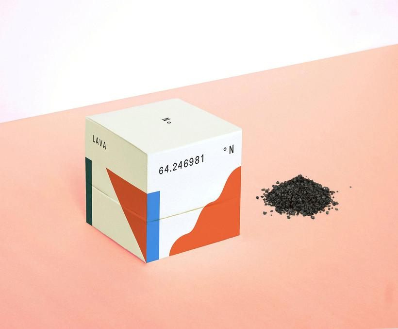 Packaging for salt which Blöndal designed on his exhange programme ...