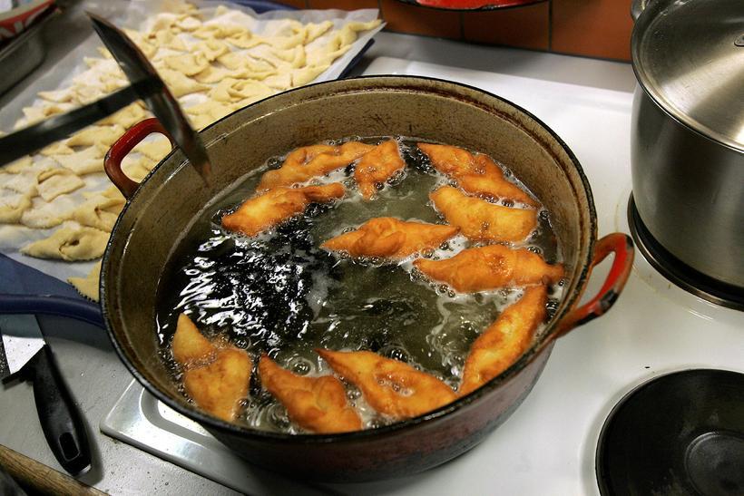 Delicious fried kleinur
