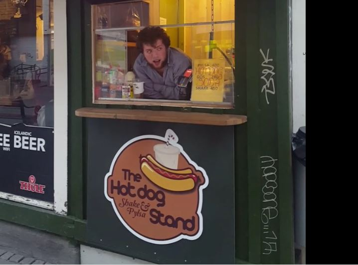 Patrick, the singing hot dog salesman.