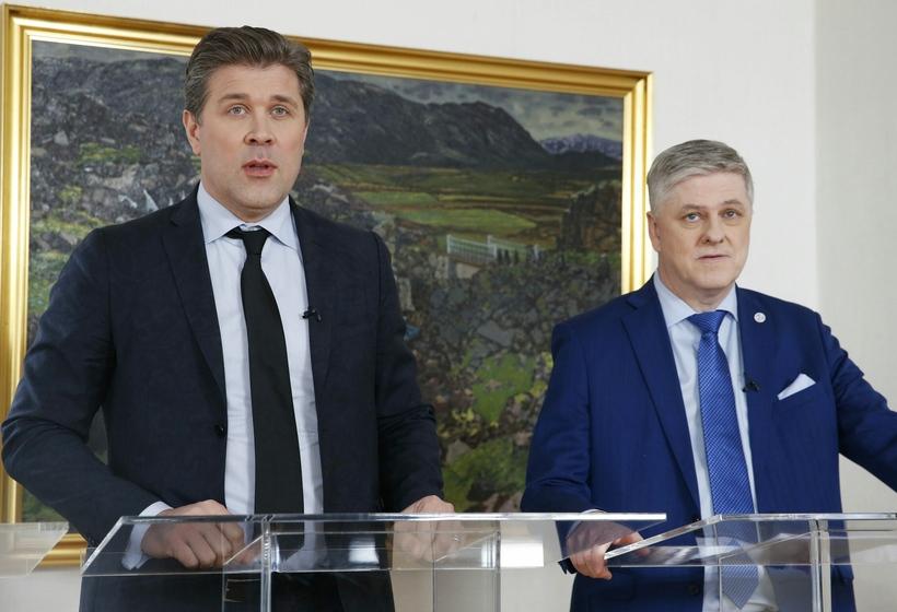 Bjarni Benediktsson forsætisráðherra og Benedikt Jóhannesson fjármálaráðherra kynntu afnám gjaldeyrishafta ...