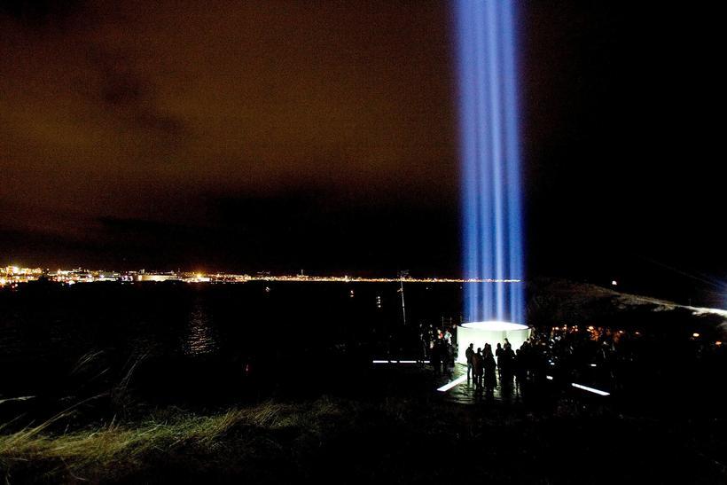 Yoko Ono's Peace Tower.