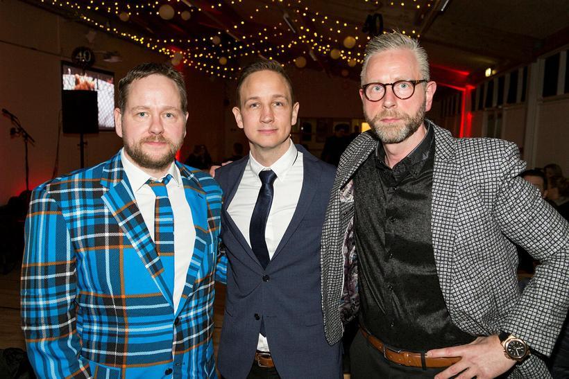 Bræðurnir Emil Austmann, Heiðar Austmann og Gunnar Austmann.