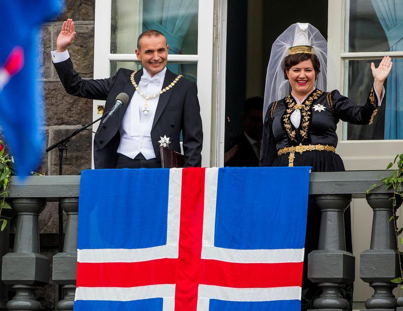 Forsetahjón Guðni Th. Jóhannesson, forseti Íslands, og Eliza Reid, kona ...