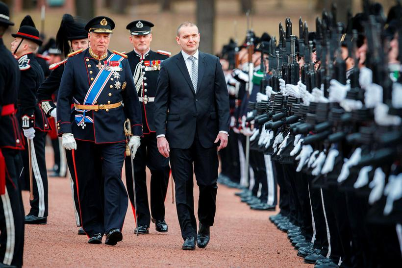 Guðni Jóhannesson, President of Iceland, on the right, with King ...