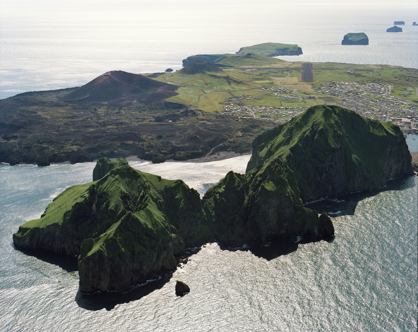 Heimaklettur is by far the tallest point of the island.