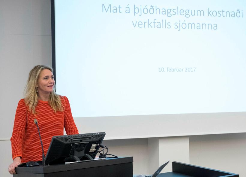 Þorgerður Katrín kynnir skýrslu um kostnað við verkfall sjómanna fyrr ...