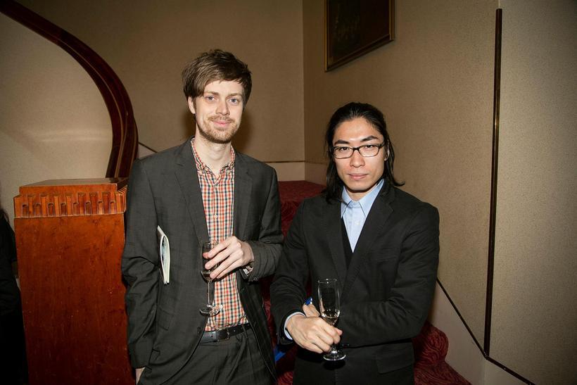 Snæbjön Brynjarsson og Shohei Watanabe.