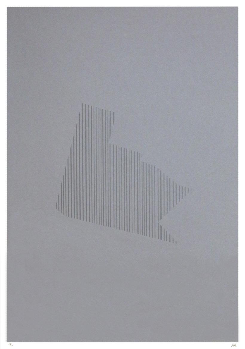 Sólveig Aðalsteinsdóttir, Walk 1-4 (Gongfor 1-4), 2014. Screenprint. Sheet: 23 ...
