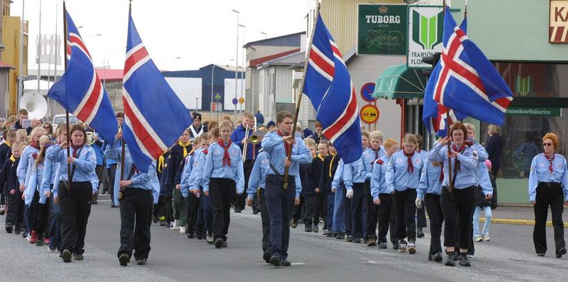 There are parades all over Iceland on the first day ...