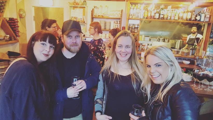 Íris Ann Sigurðardóttir, Skafti Rúnar, Svava Ástudóttir og Sandra Ósk ...