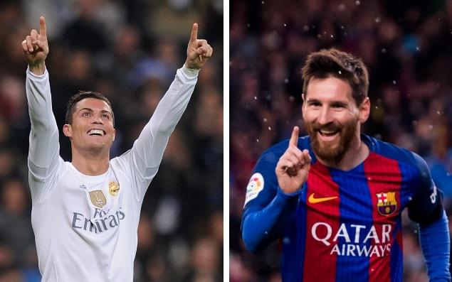 Cristiano Ronaldo og Lionel Messi. Tveir bestu fótboltamenn veraldar.