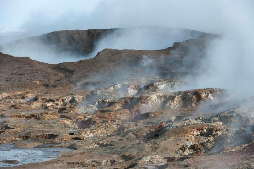 Jarðhiti Reykjanessins er nýttur til að þurrka fiskhausana.