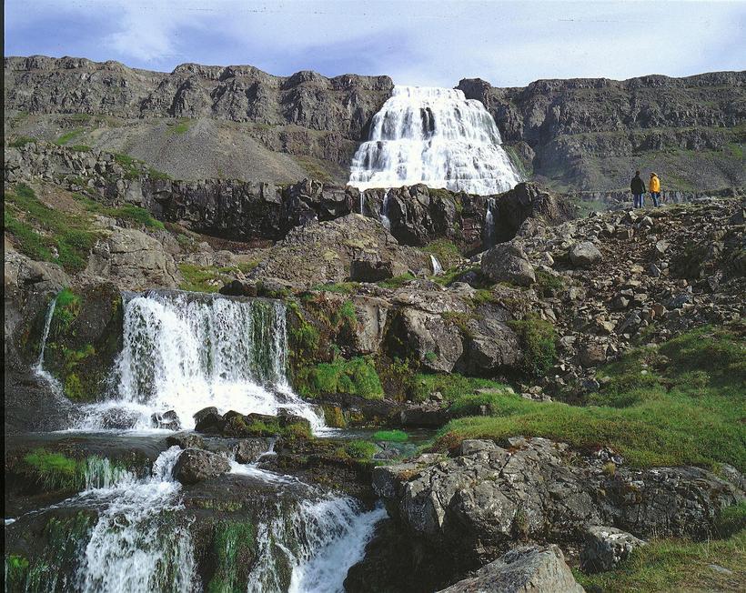 Dynjandi is a beautiful waterfall.