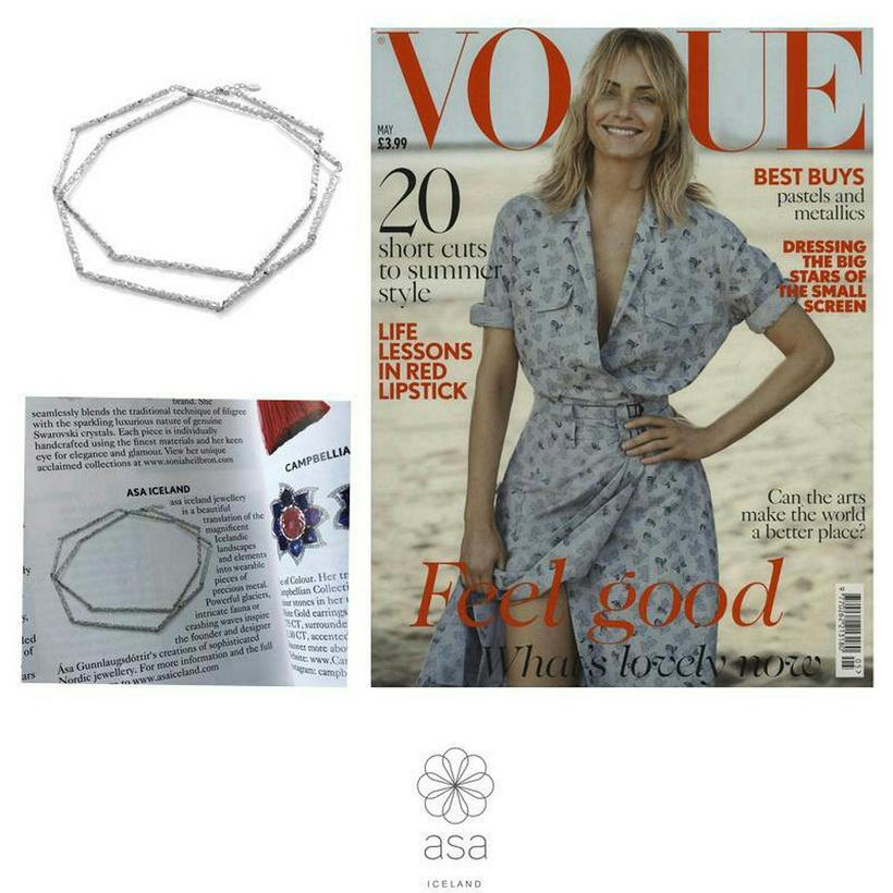The necklace featured in British Vogue.
