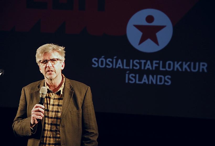 Gunnar Smári Egilsson á stofnfundi Sósíalistaflokks Íslands.