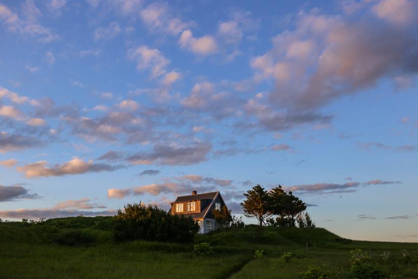 Hákon's home on Traustholtshólmi island, a tiny island in the ...