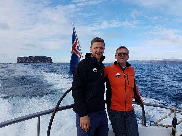 Helgi Rafn Viggósson and his father Viggó Jónsson run Drangey ...