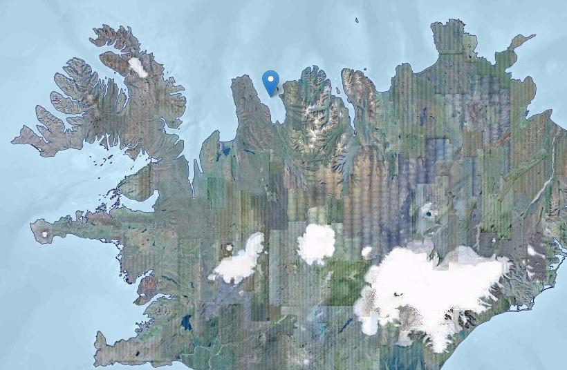 Drangey is in Skagafjörður, North Iceland
