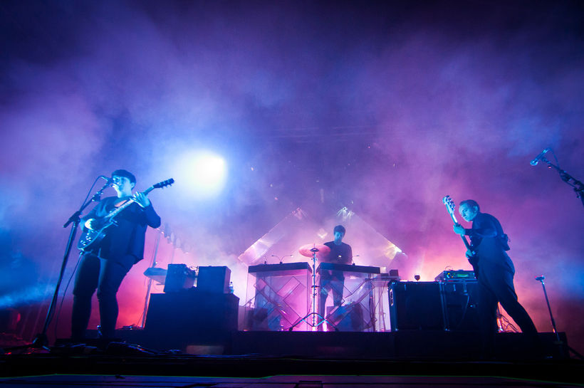 The xx on tour in 2012.