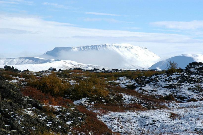 Mývatn is less than 100 km away from Akureyri, the ...