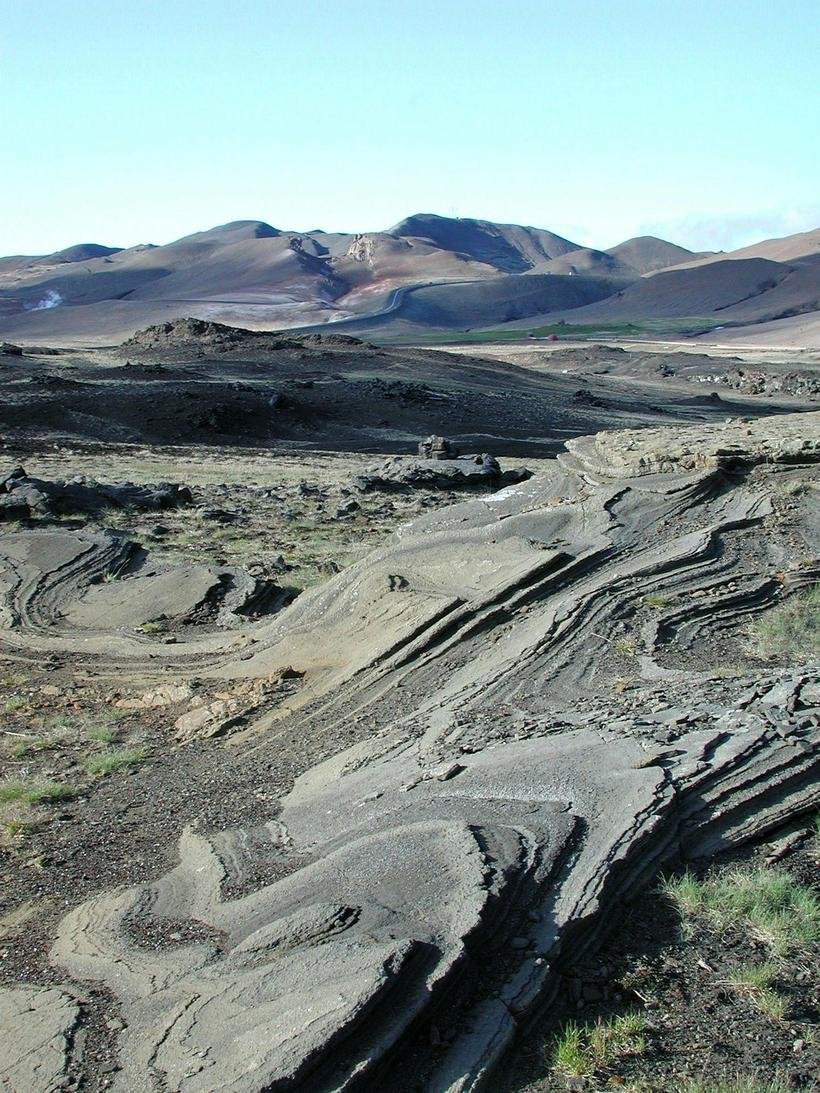 Krafla Volcano isn't far from Mývatn, it last erupted for ...